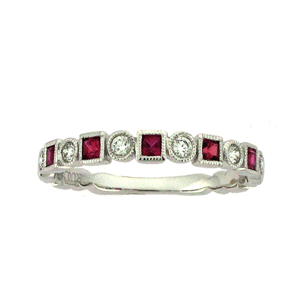 Color and  Diamond Ring by Artistry