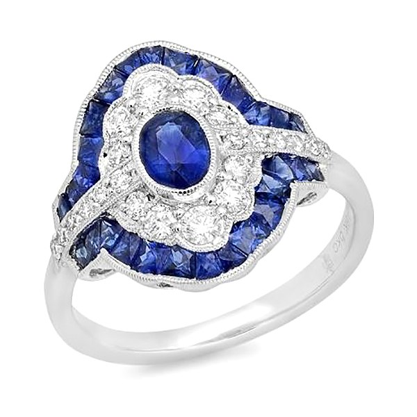 Color and  Diamond Ring by Beverley K