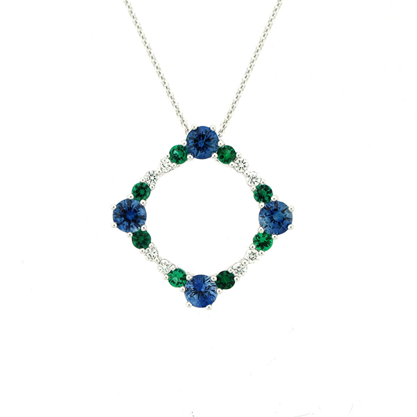 Colored Stone Necklace by Artistry